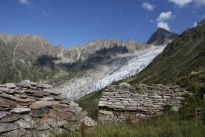Le glacier du Trient depuis les Petoudes