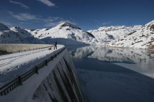 Lac d'Emosson en hiver