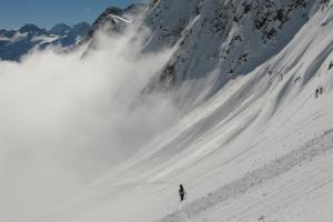 Randonnée à ski au Bel-Oiseau