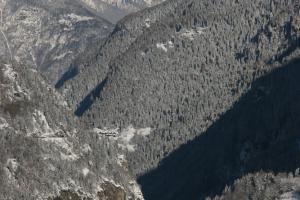 Vallée du Trient en hiver
